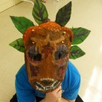 Children's art - African mask (2)