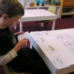 Inside the classroom - working with Montessori materials (10)