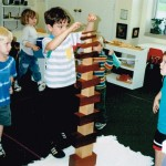 Inside the classroom - working with Montessori materials (2)