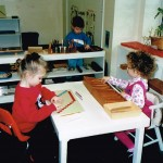 Inside the classroom - working with Montessori materials (3)