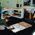 Inside the classroom - working with Montessori materials (4)