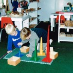 Inside the classroom - working with Montessori materials (5)