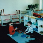 Inside the classroom - working with Montessori materials (6)