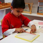 Inside the classroom - working with Montessori materials (8)