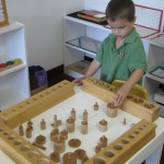 Inside the classroom - working with Montessori materials (9)