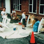 School Outdoors - Woodworking