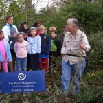 School outdoors - In the Prairie Garden
