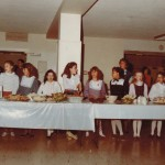 School in 1984 - Thanksgiving lunch